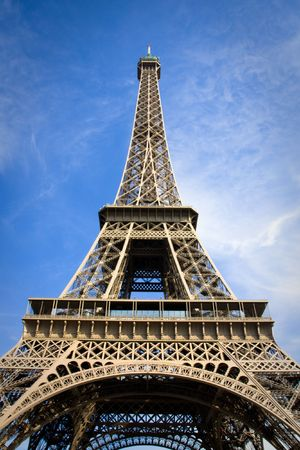Close view on the Eiffel Tower Stock Photo - 4046753