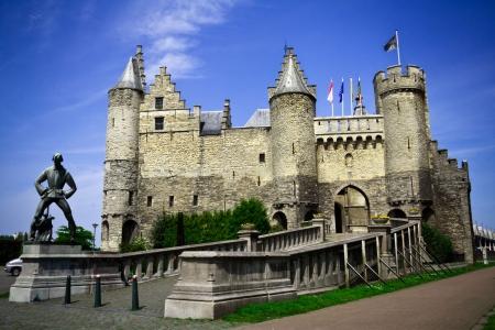 """belgie: """"Steen"""" (steen), kasteel van Antwerpen, België"""