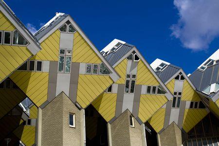 Kubische Häuser in Rotterdam, Niederlande Standard-Bild - 4059471