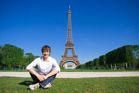 Junge Menschen auf den Champs de Mars Standard-Bild - 5012592