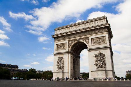 Arch der Triumph auf dem Charles De Gaulle-Platz. Paris, Frankreich Standard-Bild - 5545530