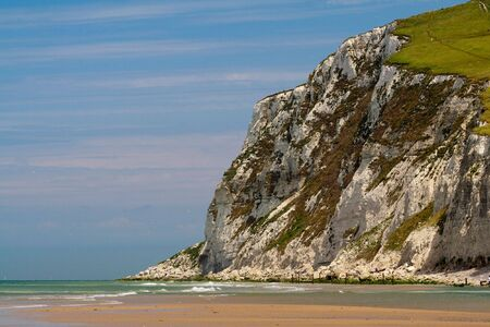 Cliffs on the North  sea. The coastline of France