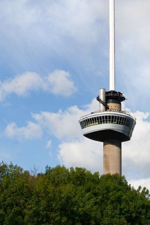 euromast: Euromast tower. A landmark of Rotterdam, The Netherlands