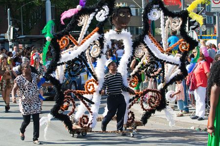 ROTTERDAM, THE NETHERLANDS - JULY 25: Participants of the parade of the annual Summer Carnival in Rotterdam on July 25, 2009 in Rotterdam, The Netherlands Editorial