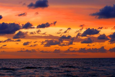 sunset over the ocean Stock Photo - 2155046
