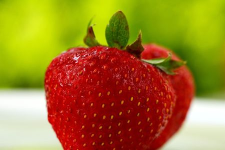 strawberry on green Imagens