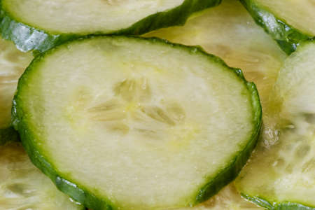 Slices of fresh cucumber photo
