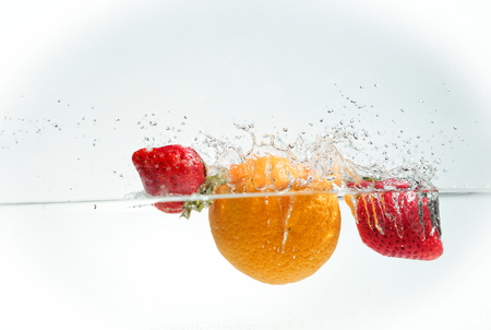 Splashing Fruits
