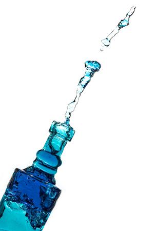 Splashing Bottle Stock Photo