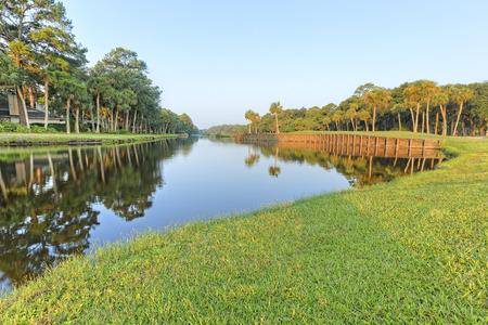 south carolina: Golf Course in Hilton Head Island, South Carolina Stock Photo