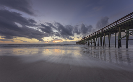 Pier in Fernandina Beach on Amelia Island during sunrise