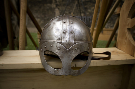 A Viking helmet. Editorial