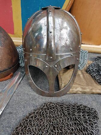 A Viking helmet. Stok Fotoğraf
