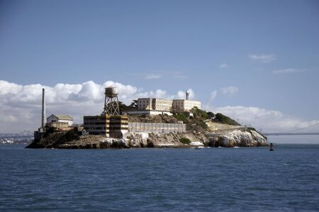 Alcatraz - The Rock - island located on the middle of San Francisco Bay in California, USA photo