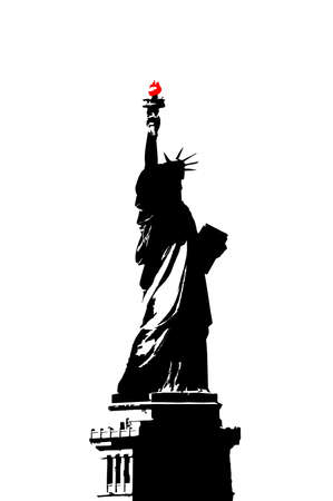 Illustration - Statue of Liberty, New York City, USA Stock Illustration - 694043