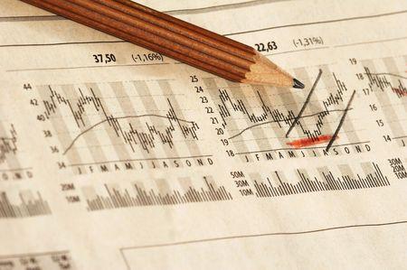 cash flow statement: Newspaper with German Stock Market