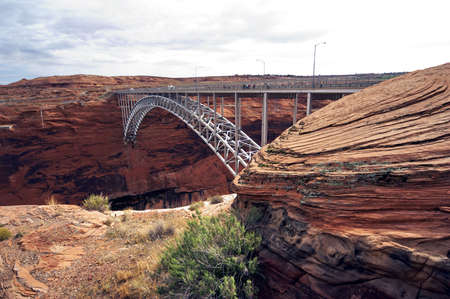 glen canyon dam bridge - steel made - landscape format photo