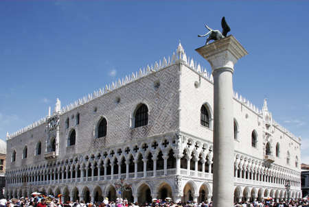 travel features: The Dogen Palace in Venice, Italy, on of the most visite place in venice.