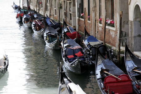 means of transportation: gondola - means of transportation - in venice, italy Stock Photo