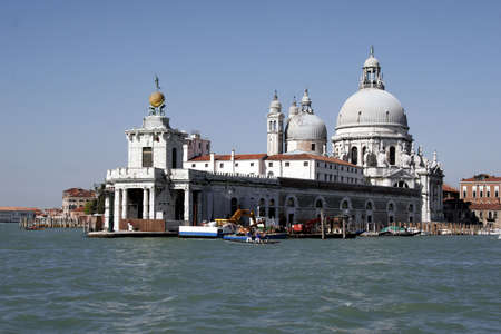 Cathedral S. Maria d. Salute in venice, italy. Importante sight Stock Photo - 732107