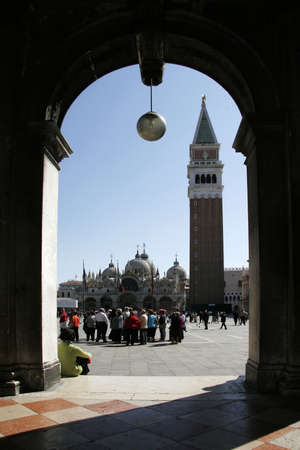 st marks square: Campanile at St. Marks Square in Venice (Italy)
