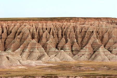 badland: Badlands National Park, southwest South Dakota, USA