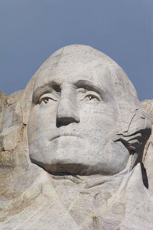 jefferson: George Washington - mount rushmore national memorial - Stone Sculptures of George Washington, Thomas Jefferson, Theodore Roosevelt, and Abraham Lincoln - black hills, south dakota, USA