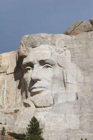 president???s: Abraham Lincoln - Mount Rushmore nazionale memoriale - sculture in pietra di George Washington, Thomas Jefferson, Theodore Roosevelt e Abraham Lincoln - Black Hills, South Dakota, Stati Uniti d'America
