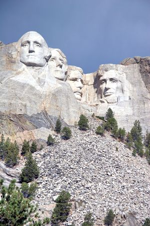 mount rushmore national memorial - Stone Sculptures of George Washington, Thomas Jefferson, Theodore Roosevelt, and Abraham Lincoln - black hills, south dakota, USA