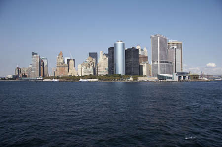 skyline of manhattan, new york from staten island - landscape format, NYC, USA Stock Photo - 799817