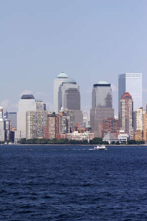 details of skyline of manhattan, new york from staten island - landscape format, NYC, USA Stock Photo - 799818