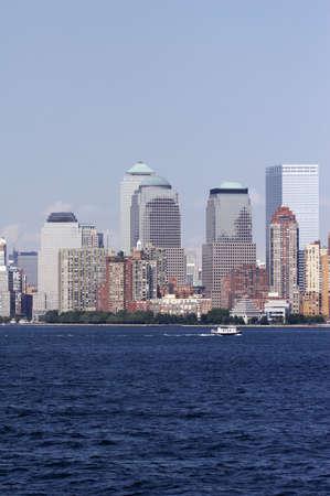 details of skyline of manhattan, new york from staten island - landscape format, NYC, USA photo