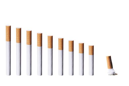 Chart with cigarettes and a butt Stock Photo - 799955