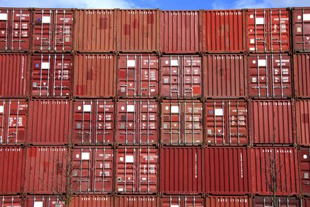 disposed: stack of container - all company names, copyrights and trademarks are disposed