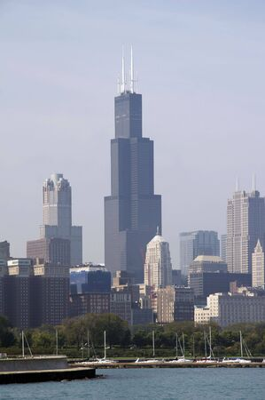 Skyline of Chicago with Sears Tower Stock Photo - 800197