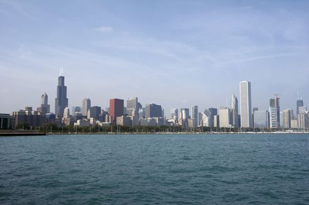 Skyline of Chicago with Sears Tower photo