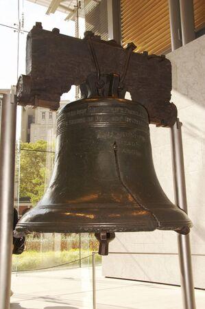 campanillas: Liberty Bell, Philadelphia, Pennsylvania, EE.UU.  Foto de archivo