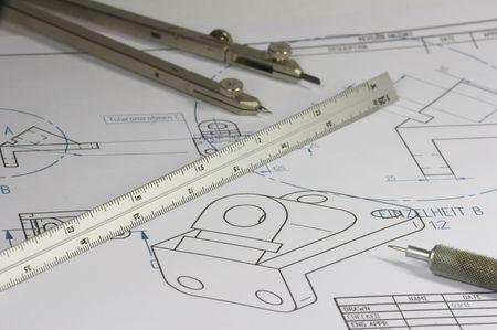 mechanical engineer constructing element Stock Photo - 802116