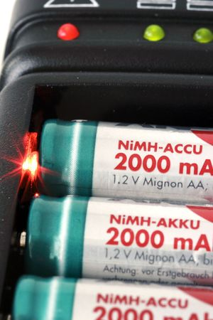 nimh: mignon aa battery  accu charger in detail