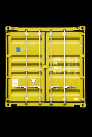 seafreight: pila de contenedor - todos los nombres de empresa, derechos de autor y marcas registradas son eliminados