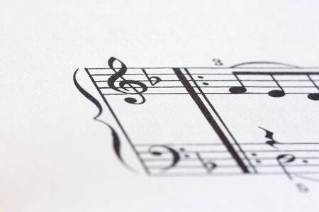 sheet of music on white background