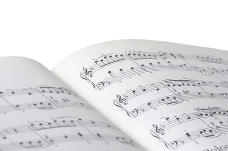 one sheet: sheet of music on white background