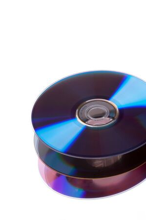 Abstract Stack of DVD - isolated on white background photo