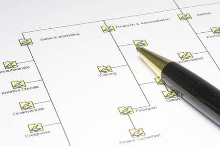 Organigrama de una empresa  Foto de archivo - 832604