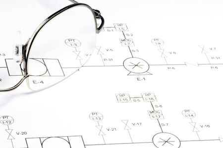diagram of a wiring system Stock Photo - 832602