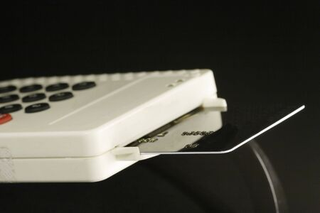 card reader for internet banking in aktion Stock Photo - 838153