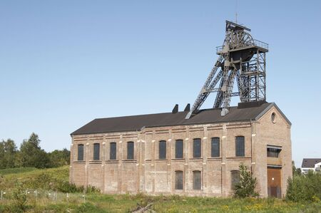headgear: The Gneisenau Colliery Shaft, Dortmund. Tomson head frame dated back to 1885. It is the oldest existing steel headgear in the Ruhr area.