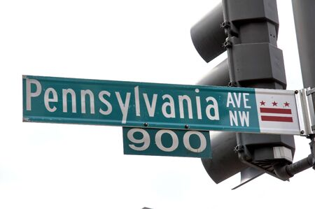 pennsylvania: green sign Pennsylvania Road, Washington DC