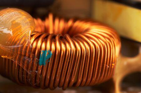 coppery: coppery all'interno di una bobina di alimentazione - formato paesaggio Archivio Fotografico