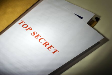 Folder with Top Secret documents Stock Photo - 1327343